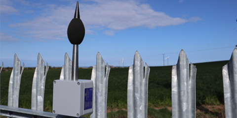 noisesensor-lite mounted on a fence